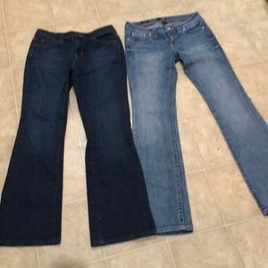 2 pair of A.n.a bootcut jeans size 6
